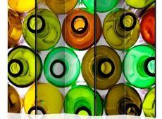 Paraván - bottles (background) II [Room Dividers]